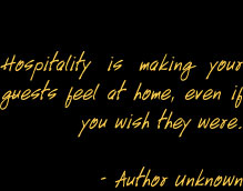 Hospitality Quote